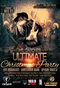 flyer for mr capones ultimate christmas party